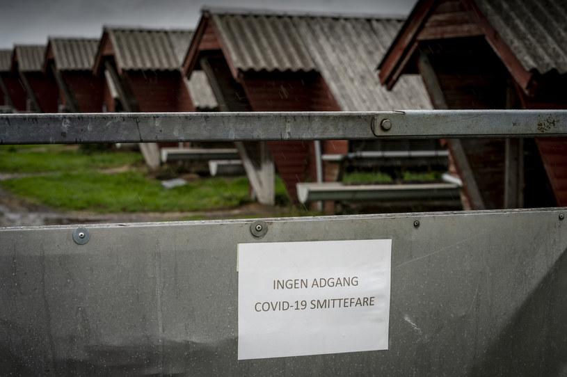 Zakaz wejścia z powodu zagrożenia COVID-19 na fermie w Hjorring w Danii /Mads Claus Rasmussen / Ritzau Scanpix / AFP /AFP