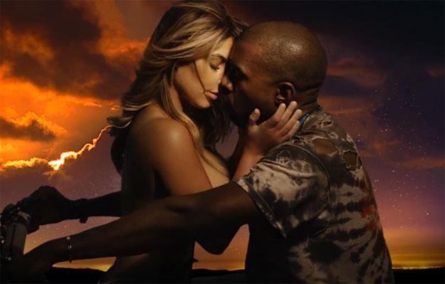 """Zakochana para: Kim Kardashian i Kanye West w klipie """"Bound 2"""" /"""