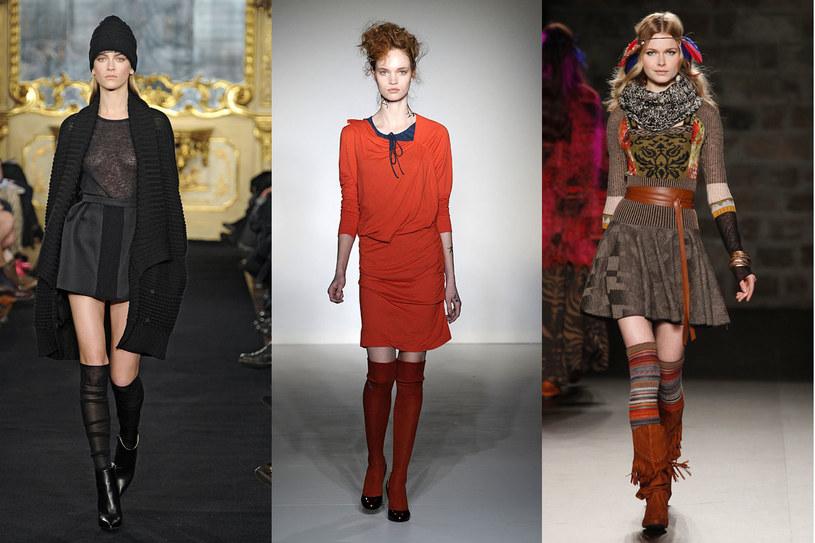 Zakolanówki na światowych pokazach mody /East News/ Zeppelin