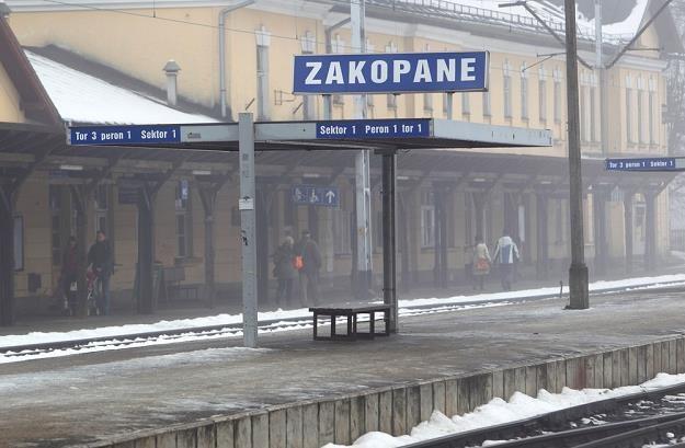Zakopane - dworzec PKP. Fot. JAN KUCHARZYK /Agencja SE/East News