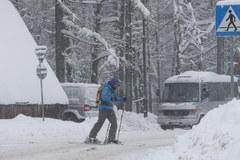 Zakopianka w śniegu