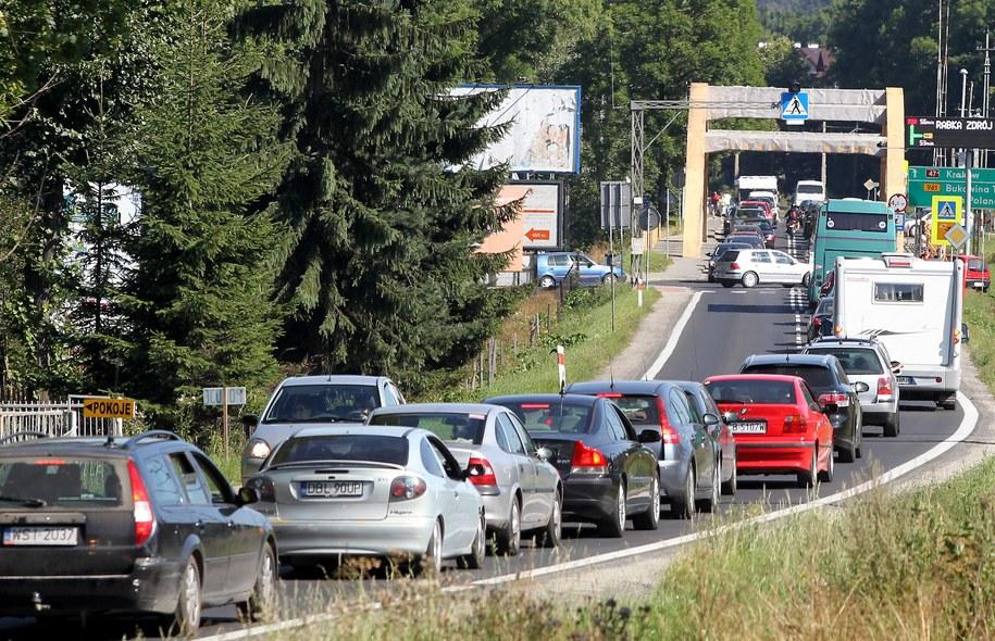 Zakorkowana trasa do Zakopanego /Grzegorz Momot /PAP