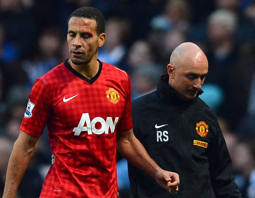 Zakrwawiony Rio Ferdinand /AFP