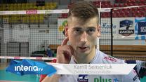 ZAKSA - Jastrzębski 3-1. Kamil Semeniuk: To był mecz dwóch najlepszych drużyn w PlusLidze. Wideo