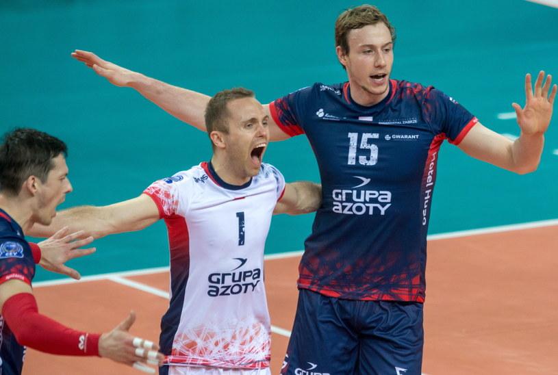 ZAKSA jest o krok od awansu do kolejnej rundy play off LM /Andrzej  Grygiel /PAP