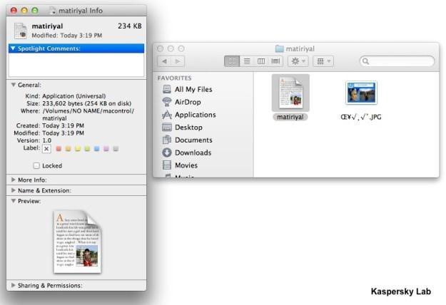 Załącznik zainfekowanej wiadomości e-mail wysyłanej do użytkowników komputerów Mac /materiały prasowe
