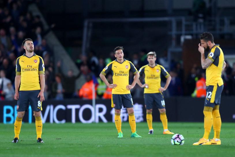 Załamani piłkarze Arsenalu po meczu z Crystal Palace /Getty Images