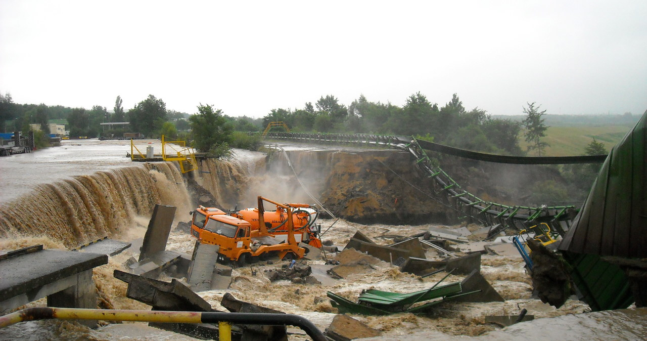 Zalana kopalnia Turów w Bogatyni