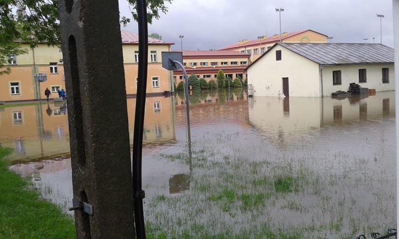 Zalane budynki w Kolbuszowej (Podkarpacie). /Gorąca Linia RMF FM /Gorąca Linia RMF FM