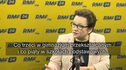 Zalewska: Reforma ma zahamować fikcję, na którą został skazany system