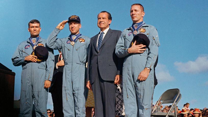 Załoga Apollo 13 i prezydent USA, Richard Nixon /NASA