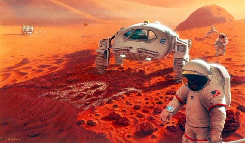 Załogowa misja na Marsa - wizja artystyczna z 1993 roku. /materiały prasowe