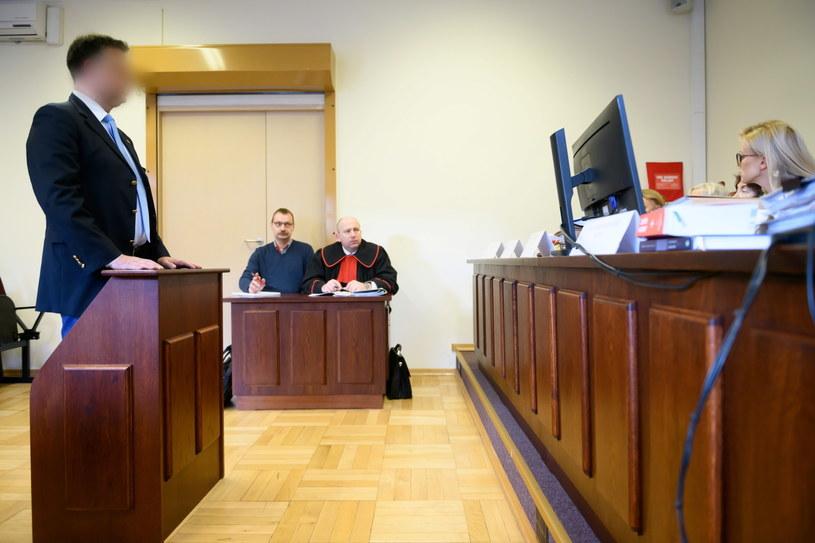 Założyciel Elektromisu, świadek Mariusz Ś. składa zeznania w sprawie Jarosława Ziętary /Jakub Kaczmarczyk /PAP