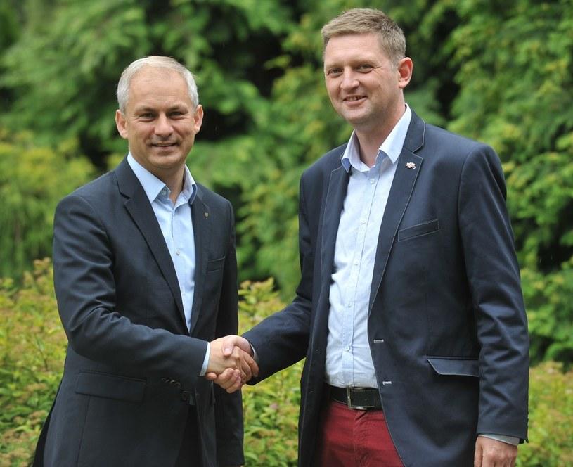 Założyciele partii Biało-Czerwoni Grzegorz Napieralski i Andrzej Rozenek /Witold Rozbicki/REPORTER /East News