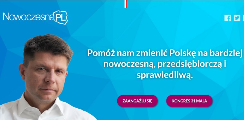 Założycielem nowej partii jest Ryszard Petru /nowoczesnapl.org /