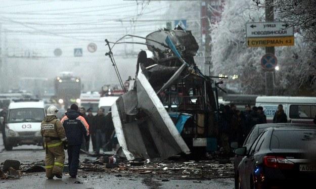 Zamach bombobowy  w Wołgogradzie /AFP