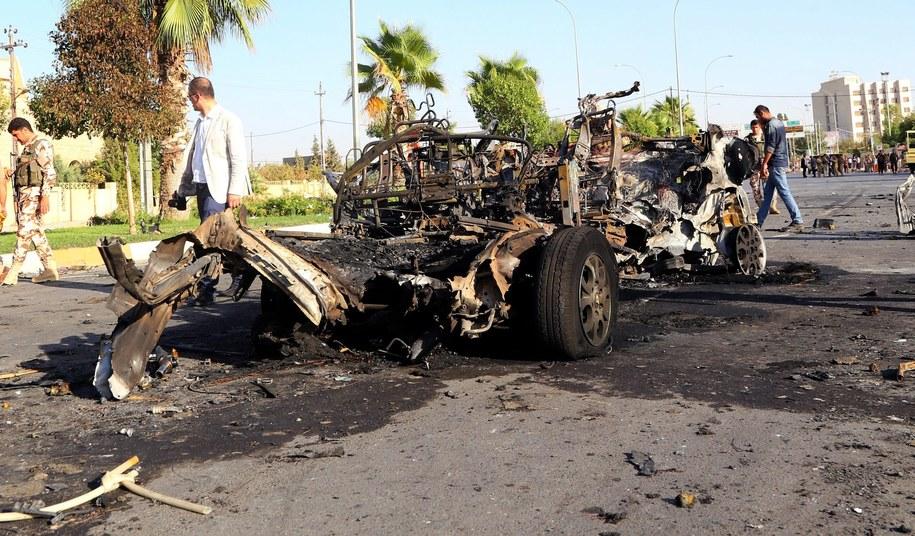 Zamach bombowy w Iraku /STR /PAP/EPA