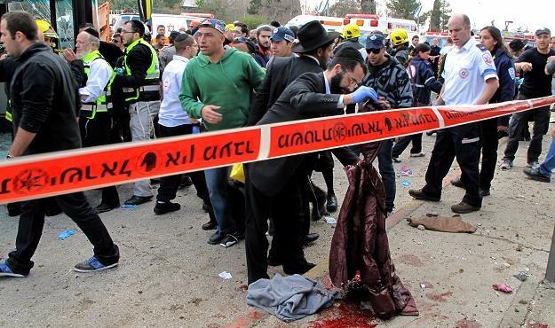 Zamach bombowy w Jerozolimie /AFP