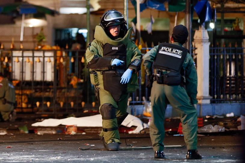 Zamach miał miejsce wieczorem, gdy na ulicach Bangkoku przebywało wielu turystów /RITCHIE B. TONGO /PAP/EPA