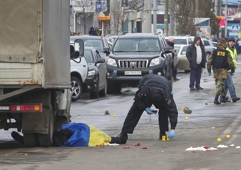 Zamach w Charkowie /PAP/EPA