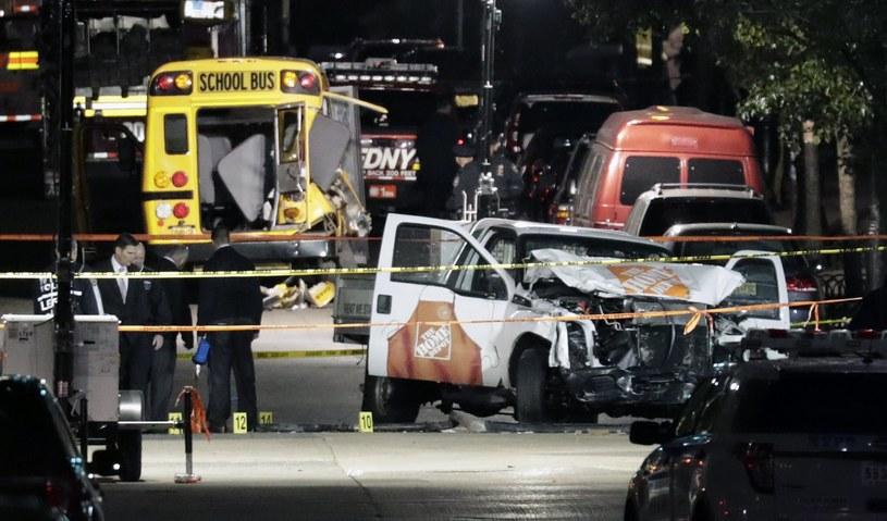 Zamach w Nowym Jorku /JASON SZENES    /PAP/EPA