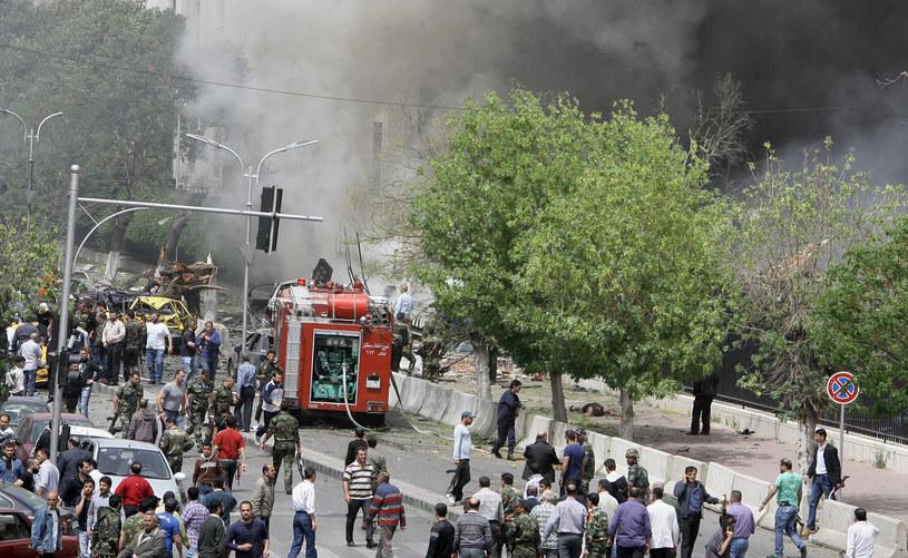 Zamachowiec samobójca wysadził się w centrum Damaszku (zdjęcie ilustracyjne) /LOUAI BESHARA /AFP
