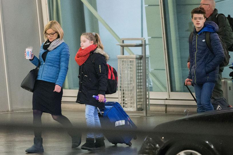 Zamchowscy na lotnisku /- /Foto IP