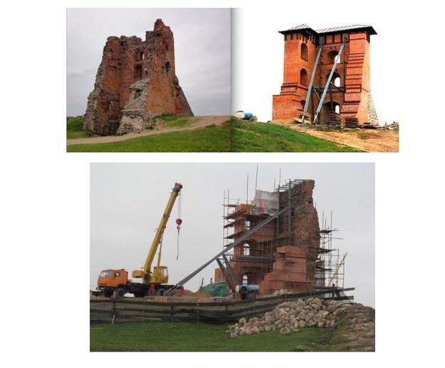 """Zamek przed i po """"remoncie"""" /http://www.charter97.org /"""