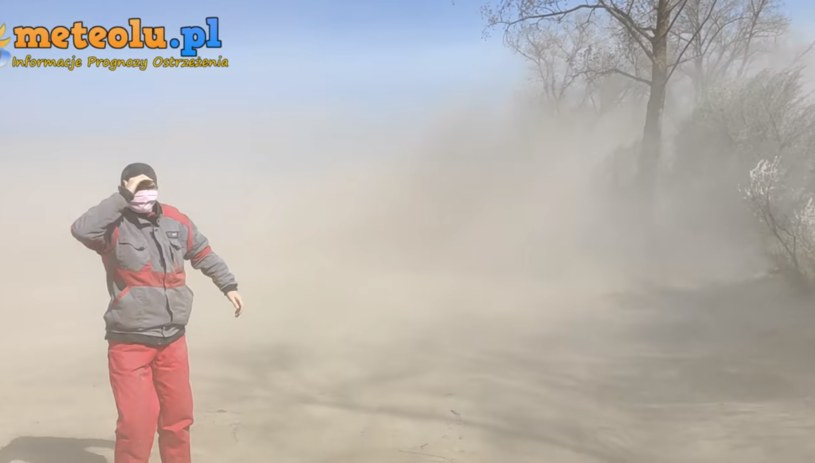 Zamieć pyłowa na Lubelszczyźnie (fot. meteolu.pl) /Facebook /