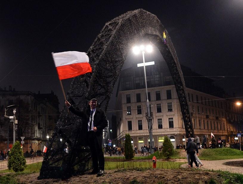 Zamieskzi na placu Zbawiciela /JANEK SKARZYNSKI/ /AFP