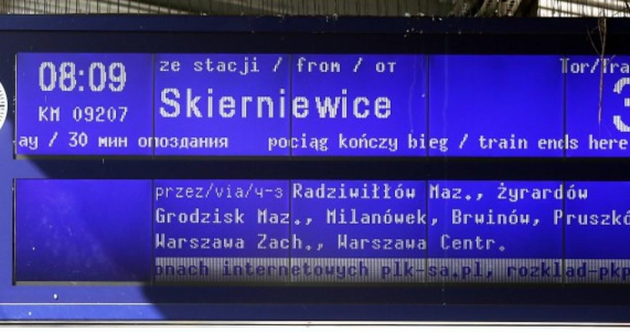 Zamieszanie na dworcu Warszawa Wschodnia po awarii