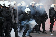 Zamieszki na Placu Konstytucji w Warszawie