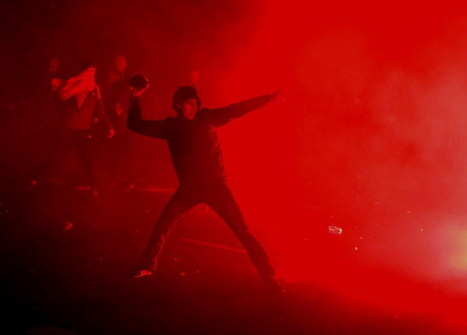 Zamieszki na Rondzie Waszyngtona /Tomasz Gzell /PAP