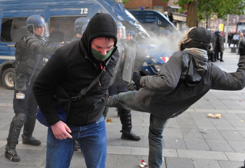 Zamieszki po demonstracji w Nantes /AFP