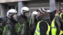 """Zamieszki podczas protestów """"żółtych kamizelek"""" w Brukseli"""