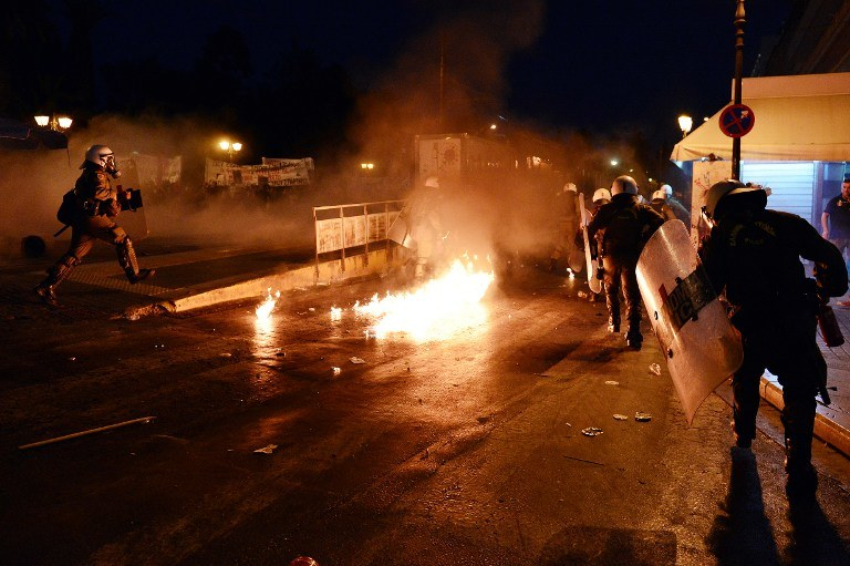 Zamieszki w Atenach /AFP