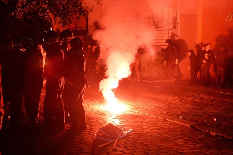 Zamieszki w Berlinie /EPA/MAURIZIO GAMBARINI /PAP/EPA