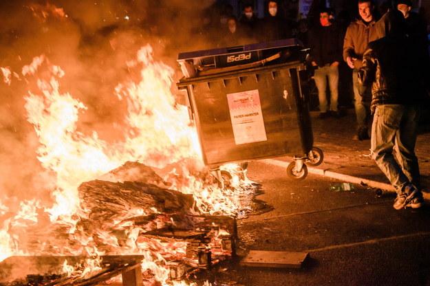 Zamieszki w Berlinie /Clemens Bilan /PAP