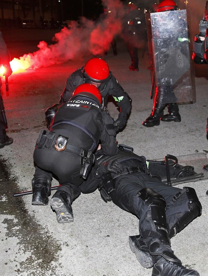 Zamieszki w Bilbao zakończyły się tragicznie /AFP