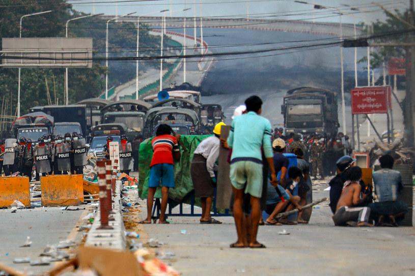 Zamieszki w Birmie /AFP