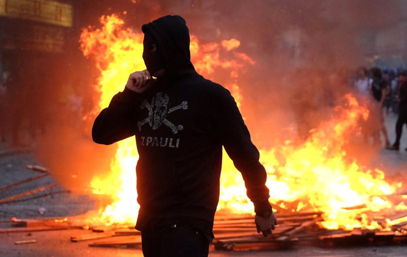 Zamieszki w Hamburgu /AFP