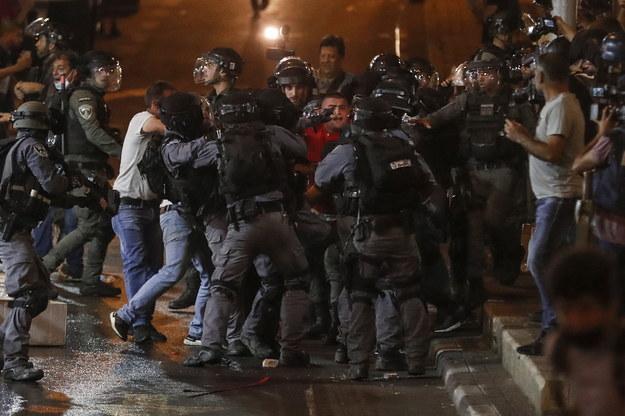 Zamieszki w Jerozolimie /ATEF SAFADI  /PAP