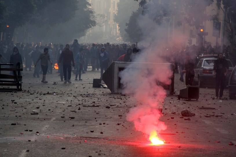 Zamieszki w Kairze /PAP/EPA