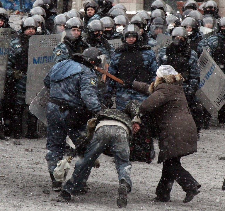 Zamieszki w Kijowie /AFP