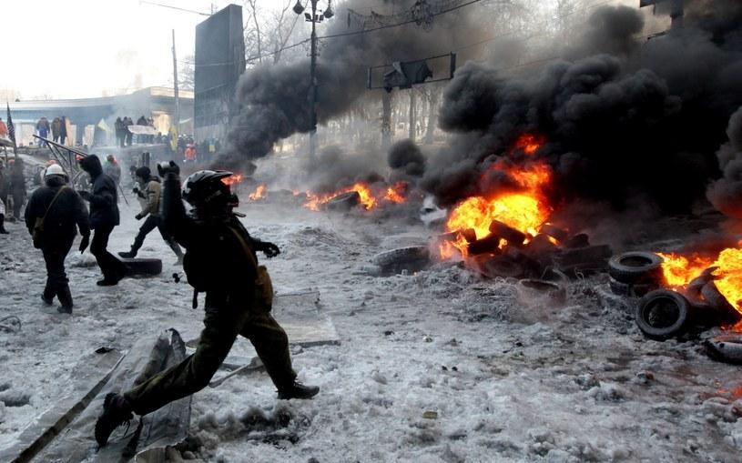 Zamieszki w Kijowie /PAP/EPA