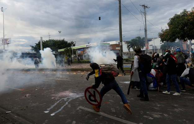 Zamieszki w Kolumbii /Ernesto Guzman Jr. /PAP/EPA