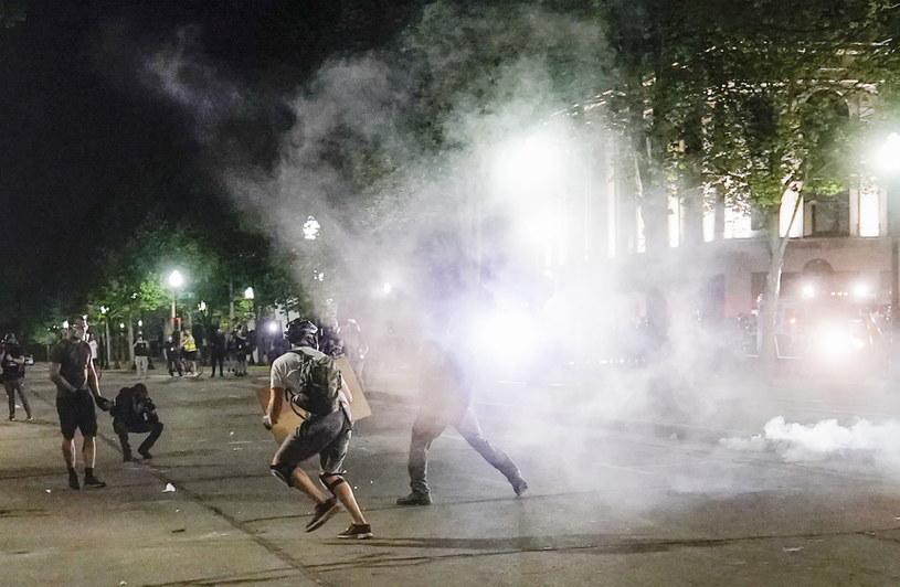 Zamieszki w mieście Kenosha /TANNEN MAURY  /PAP/EPA