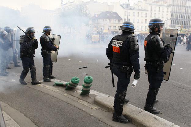 Zamieszki w Paryżu: Policja użyła gazu łzawiącego; zatrzymano co najmniej 16 ludzi /AFP