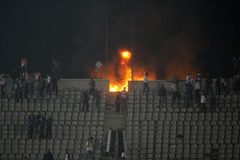 Zamieszki w Port Saidzie w Egipcie z 1 lutego 2012 /Foto Olimpik /Newspix