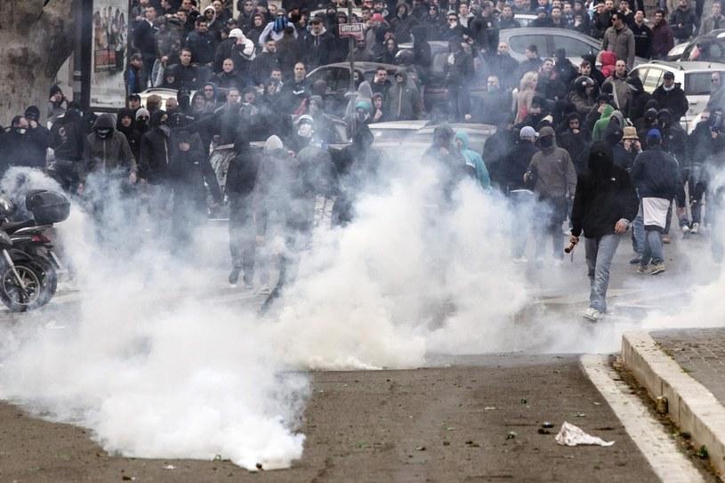 Zamieszki w Rzymie przed meczem derbowym /PAP/EPA